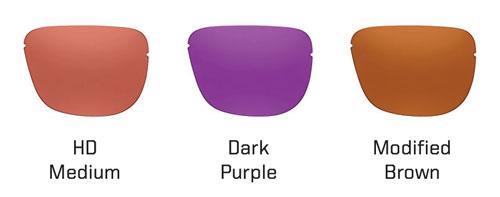 Medium, Dark Purple, Mod. Brown Shooting Lenses